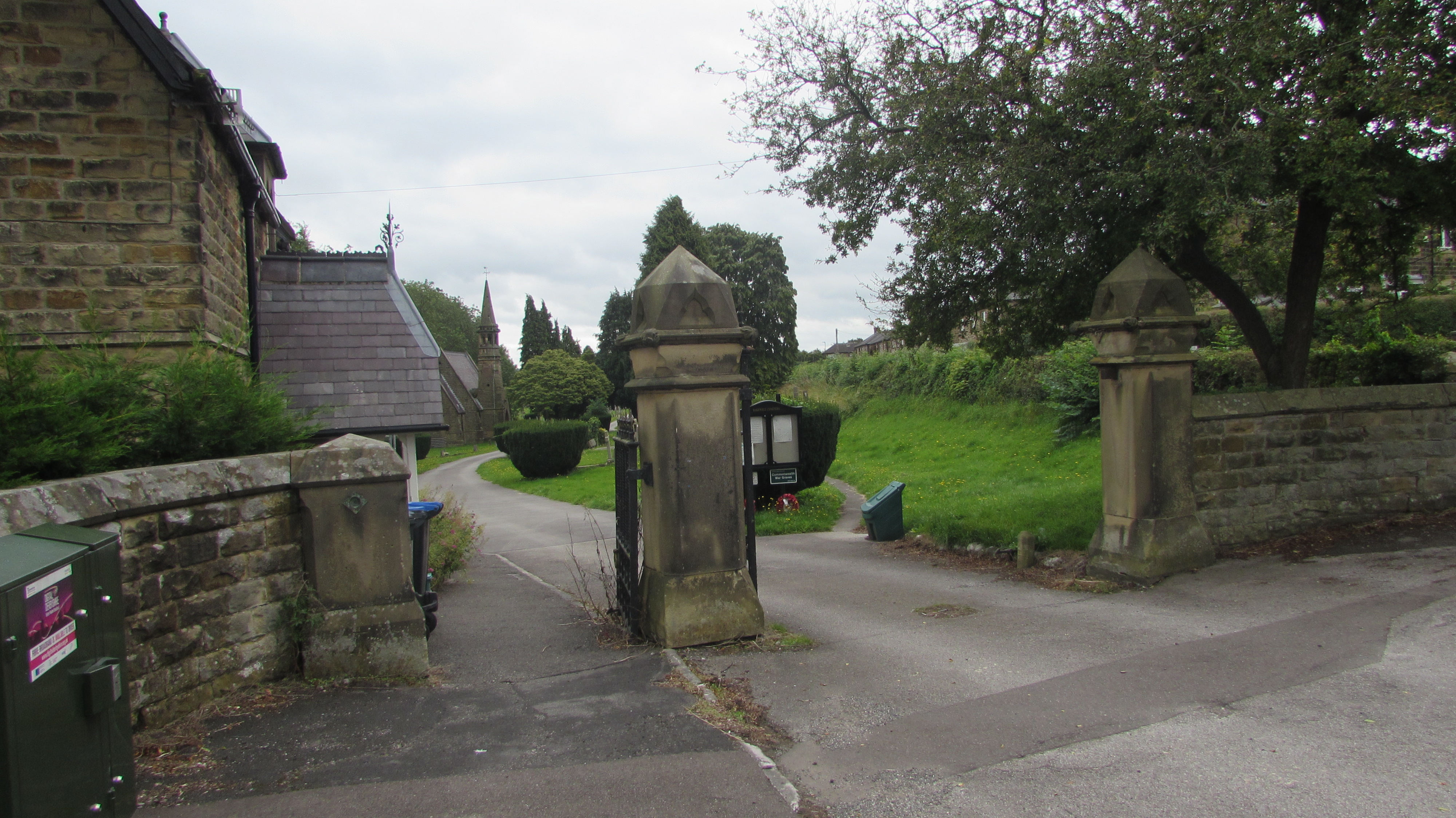 Entrance To Bakewell Cemetery (Taken August 2019)