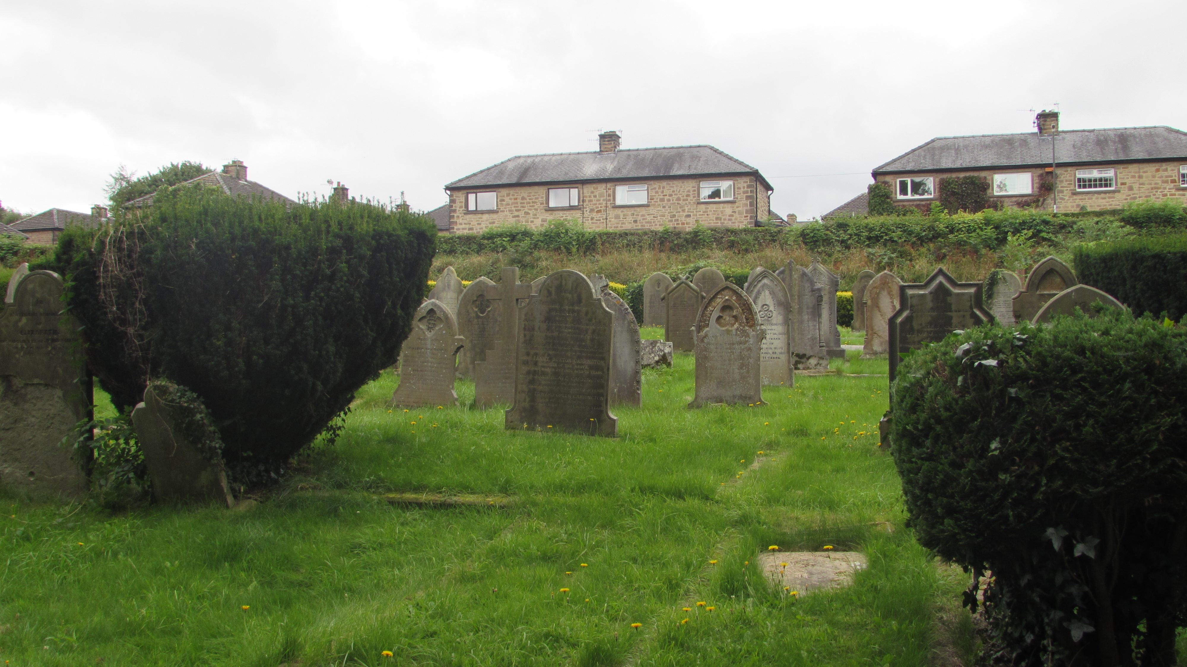 The Houses Over Looking The Cemetery