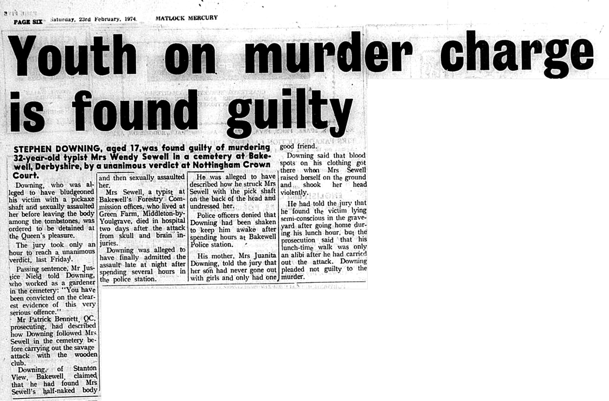Article from the Matlock Mercury: 23rd Feb 1974